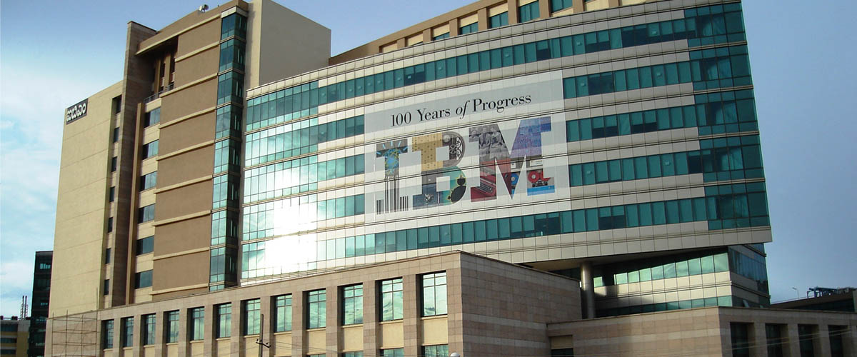 ibm headquarters building in india, ibm's new advertising campaign just use a metaphor