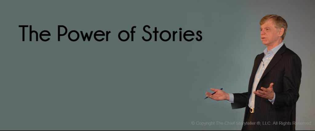 john p. kotter, esteemed professor from harvard business school, headshot, text is the power of stories
