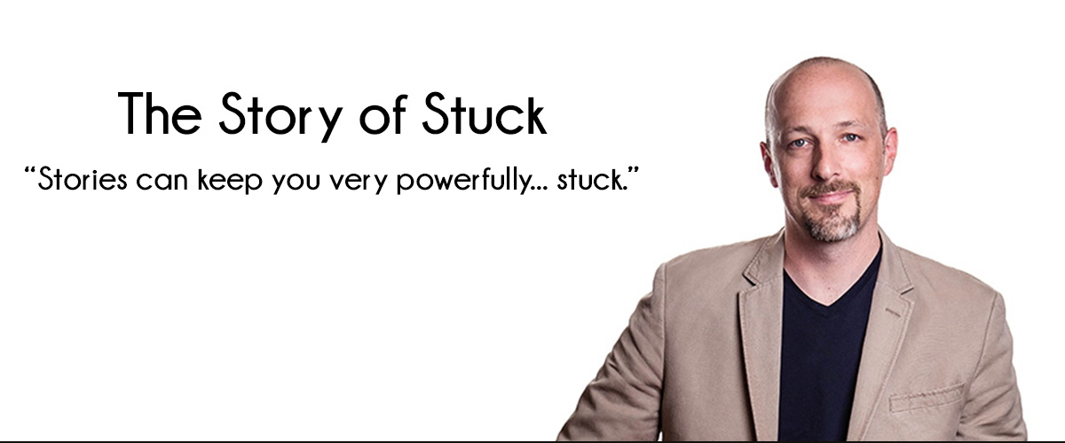 """picture of Jamie Notter with the title, """"Story of Stuck"""""""