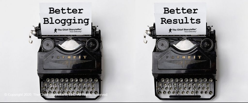 two old school typewriters with text better blogging, better results in old newspaper courier font
