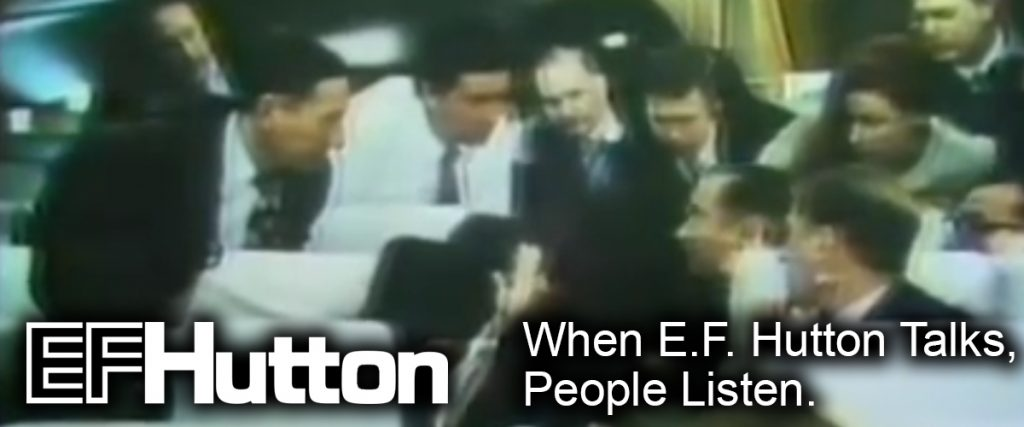 when ef hutton talks, people listen - klout - screen grab from circa 1970 commercial, executives around lunch table