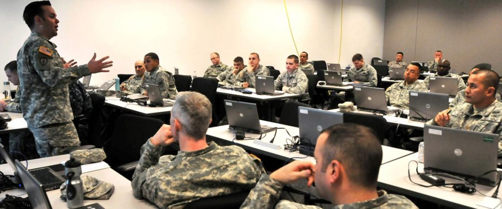Army training class - resume and career