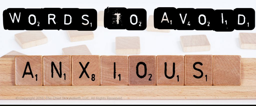 tip words to avoid anxious with scrabble pieces spelling out anxious