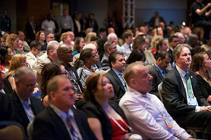 audience members from Ira Koretsky's department of energy keynote at the small business conference