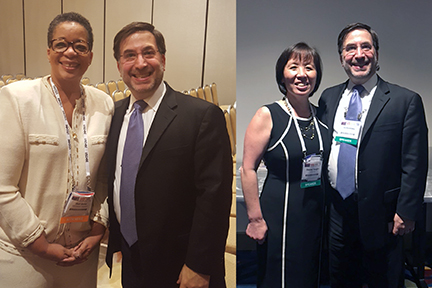 ira koretsky with two participants from the department of energy small business conference, both pictures of executive women