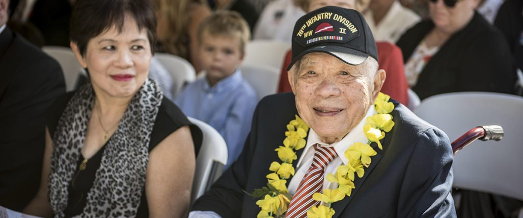 happy veterans day 2016 - World War II veteran Daniel Lau attends a Veterans Day ceremony at the National Memorial Cemetery of the Pacific in Honolulu