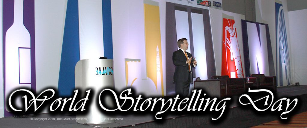 World Storytelling Day 2017 with Ira Koretsky, The Chief Storyteller, telling stories in Tijuana, Mexico on behalf of the Government of Mexico