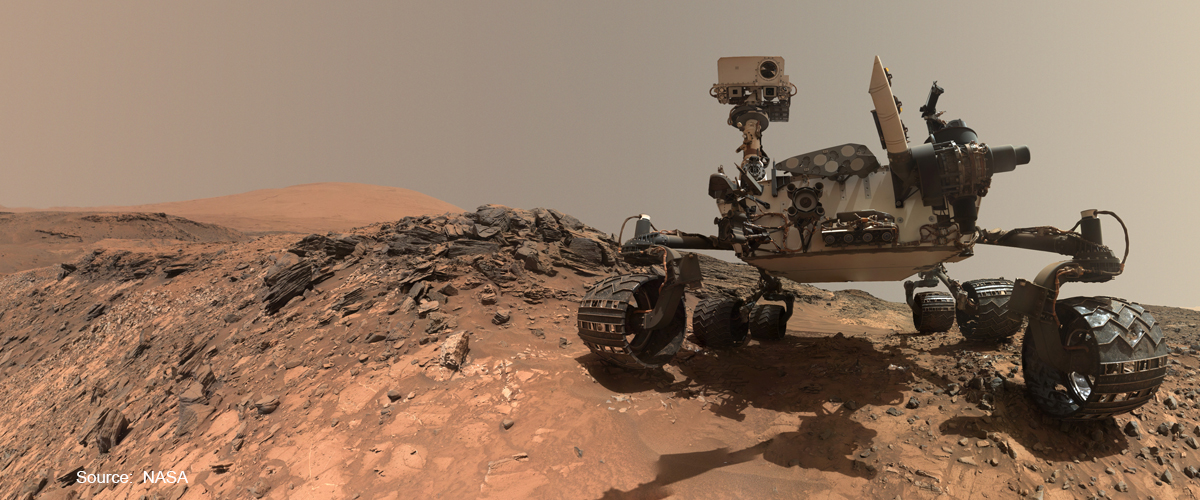 photo of a NASA rover on Mars planet for the blog post about NASAs Planetary Protection Officer