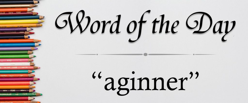 word of the day - aginner