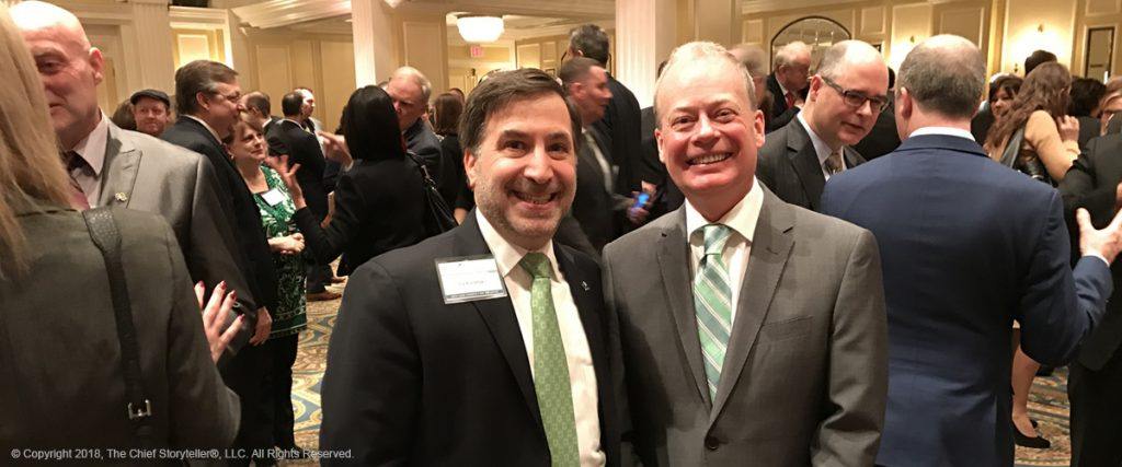 st patrick's day 2017 - Ira Koretsky with Norman Houston, Director of Northern Ireland Bureau, Annual Business Breakfast co-sponsored with Invest Northern Ireland, Tourism Ireland