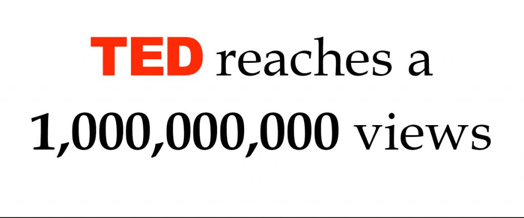TED reaches its billionth video view