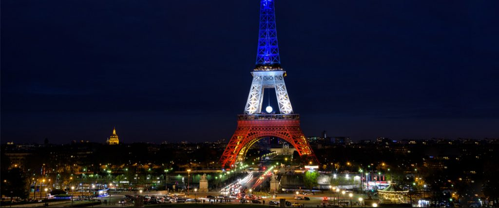 eiffel tower at night, bright lights, red, white, and blue, visit to europe, importance of asking