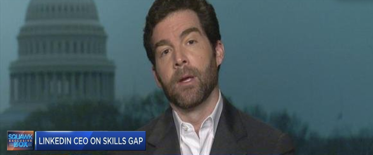 Jeff Weiner, CEO, Linkedin, on CNBC talking about skills gap