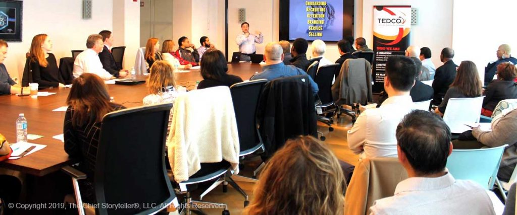 TEDCO Workshop with Ira Koretsky's program, Storytelling for Leaders, full house
