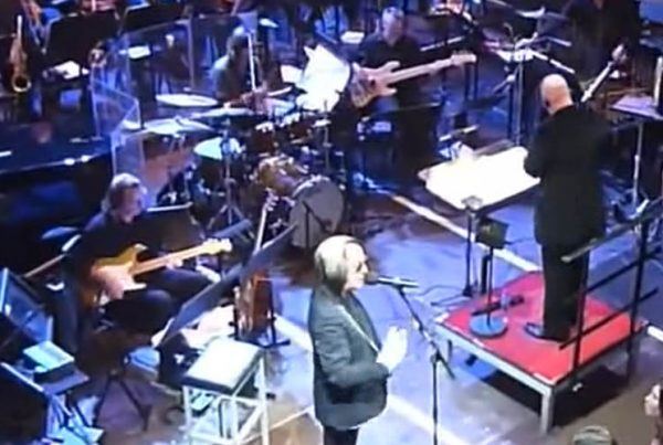 screen capture of Todd Rundgren performing his Onomatopoeia song in Amsterdam with The Metropole Orchestra in Amsterdam