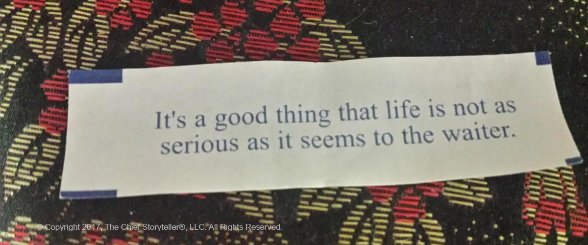 fortune cookie - story about customer service