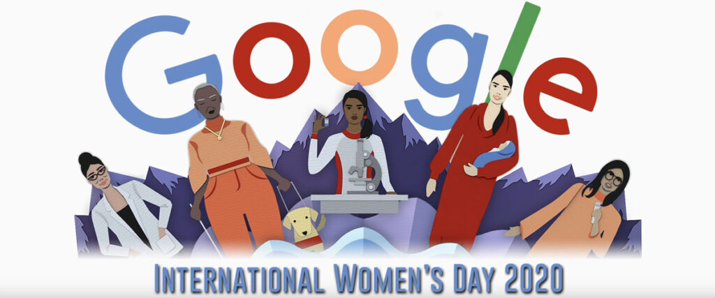 international women's day iwd2020 googledoodle