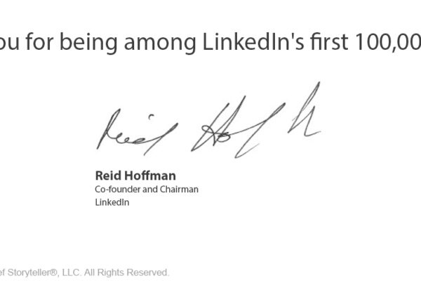 reid hoffman thank you for being a member email from Linkedin -- 11506