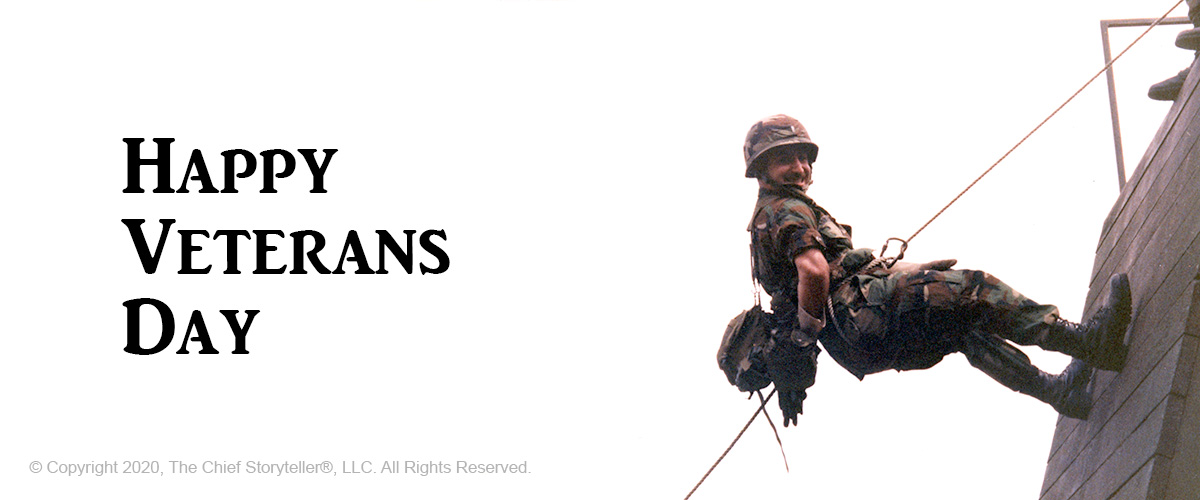 happy veterans day 2020 - ira koretsky rapelling down tower at Fort Sam Houston, Texas