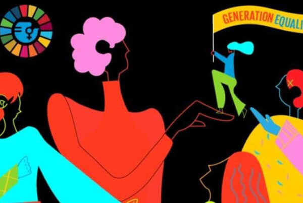 international women's day iwd2021 from UN Women - stylized women with bright pastel colors